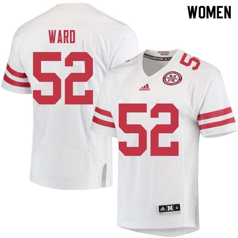 Women #52 Andrew Ward Nebraska Cornhuskers College Football Jerseys Sale-White