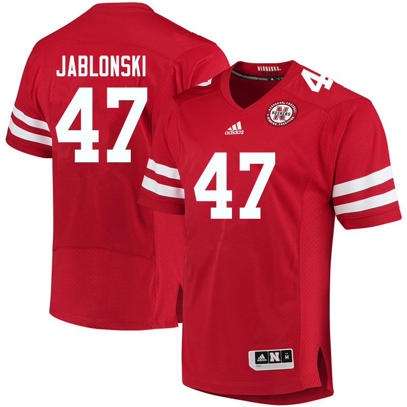 Women #47 Austin Jablonski Nebraska Cornhuskers College Football Jerseys Sale-Red