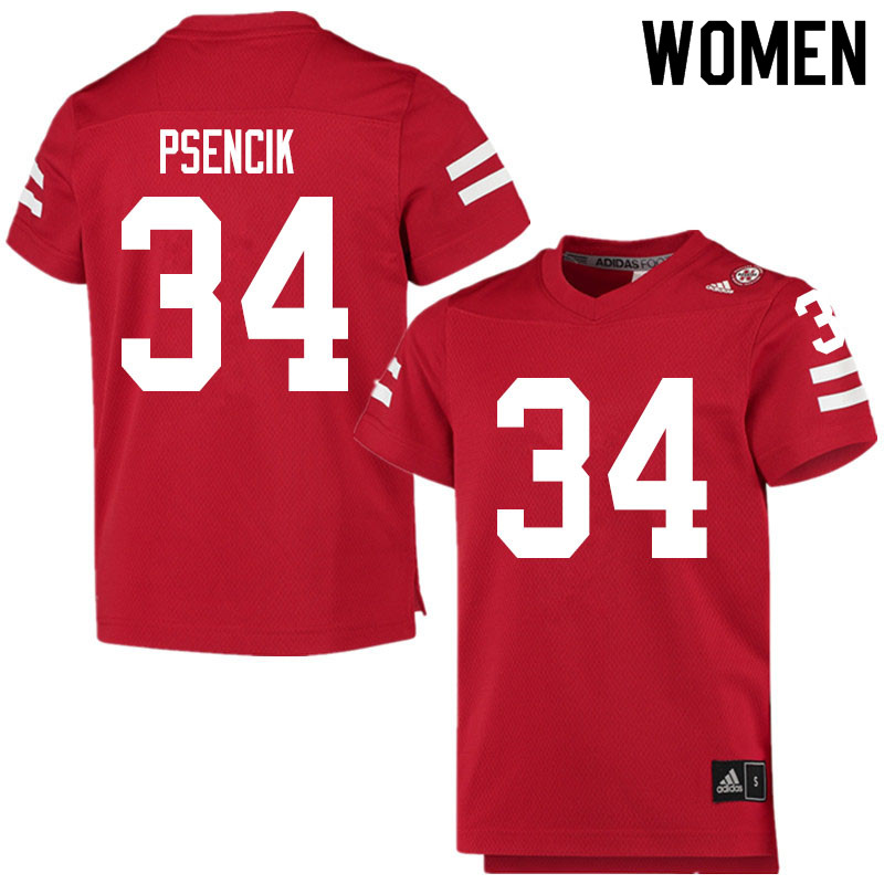 Women #34 Beau Psencik Nebraska Cornhuskers College Football Jerseys Sale-Scarlet
