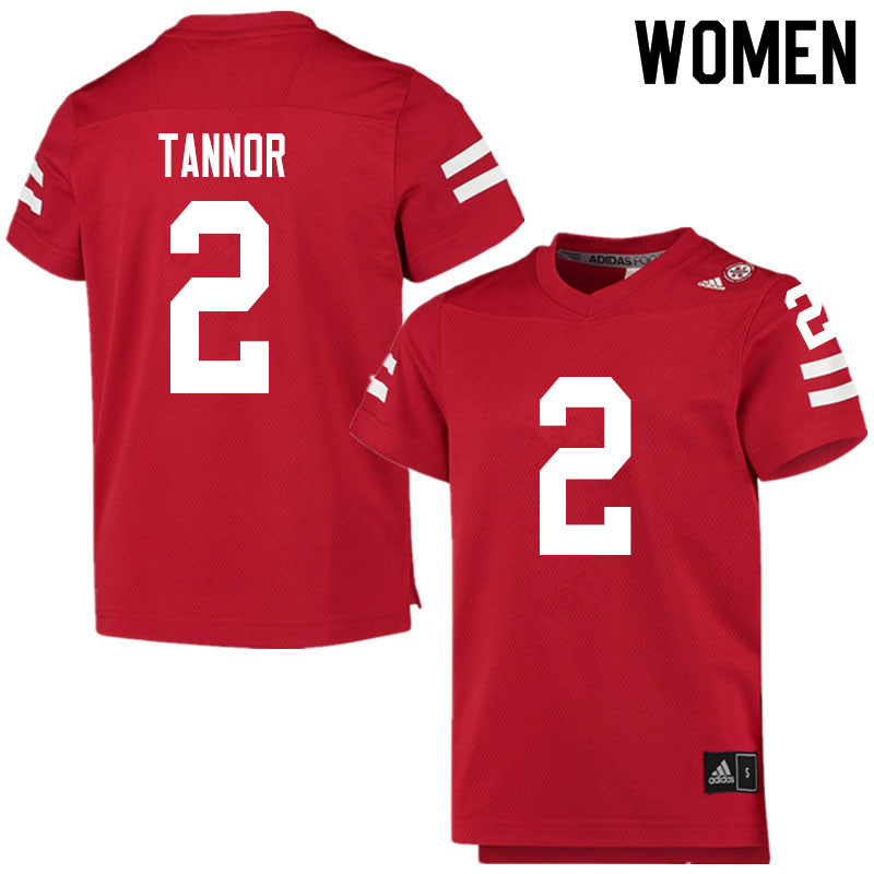 Women #2 Caleb Tannor Nebraska Cornhuskers College Football Jerseys Sale-Scarlet