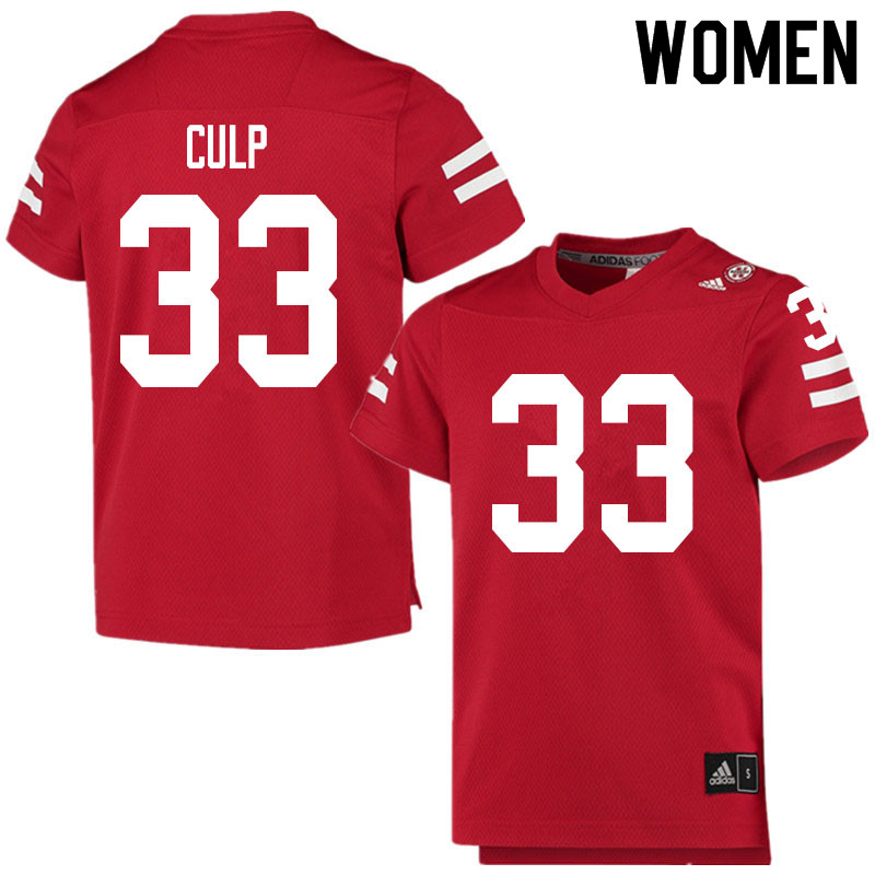 Women #33 Connor Culp Nebraska Cornhuskers College Football Jerseys Sale-Scarlet