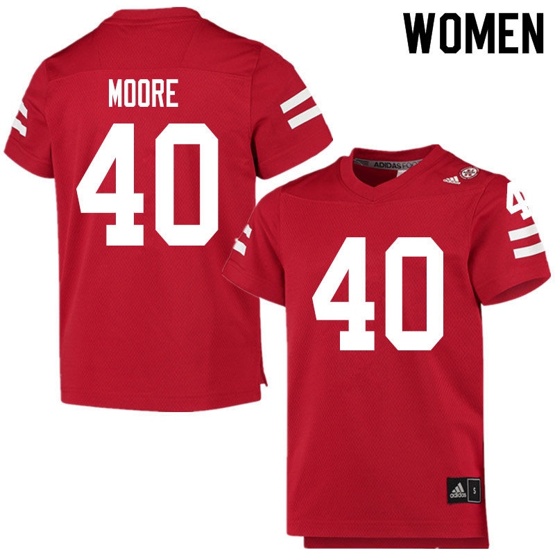 Women #40 Darius Moore Nebraska Cornhuskers College Football Jerseys Sale-Scarlet