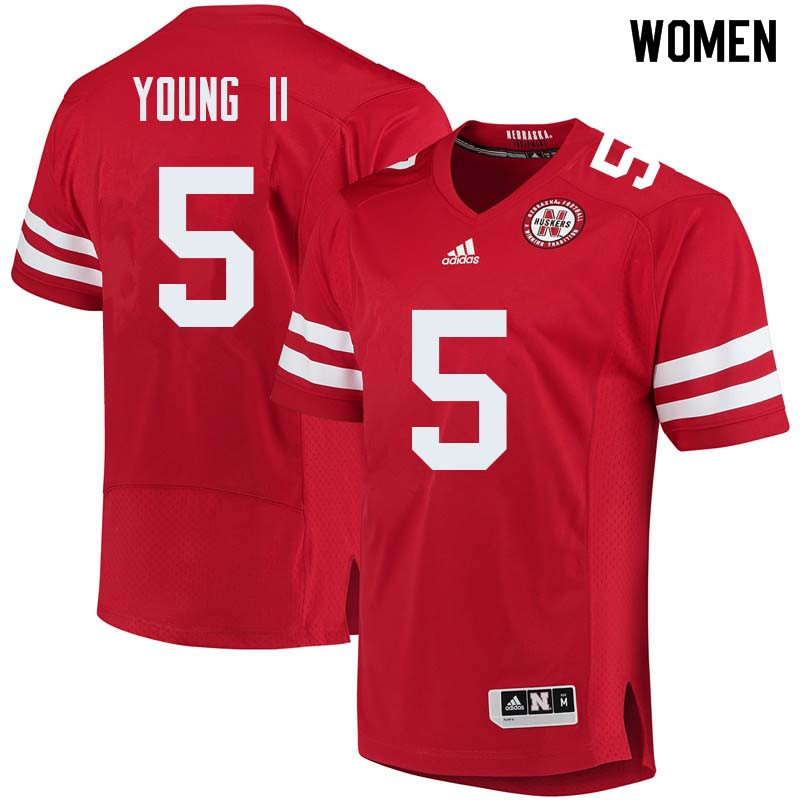 Women #5 Dedrick Young II Nebraska Cornhuskers College Football Jerseys Sale-Red