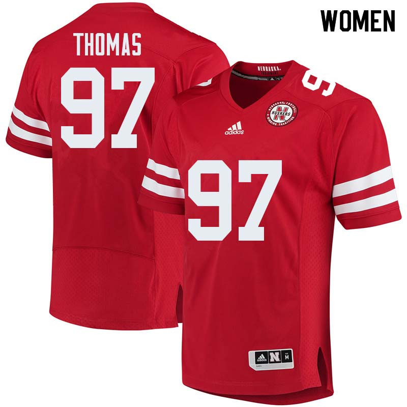 Women #97 Deontre Thomas Nebraska Cornhuskers College Football Jerseys Sale-Red