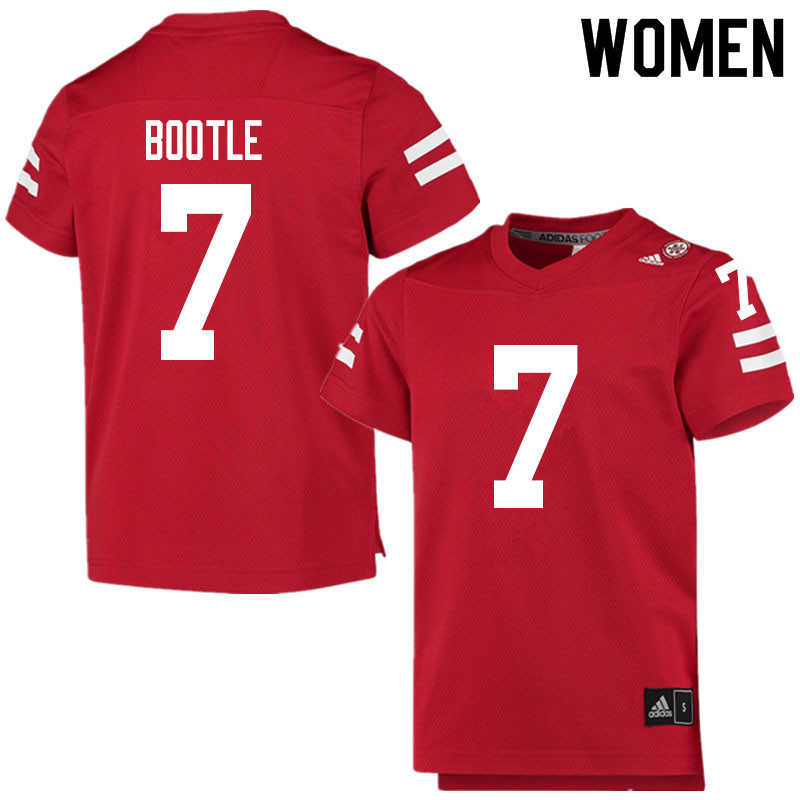 Women #7 Dicaprio Bootle Nebraska Cornhuskers College Football Jerseys Sale-Scarlet