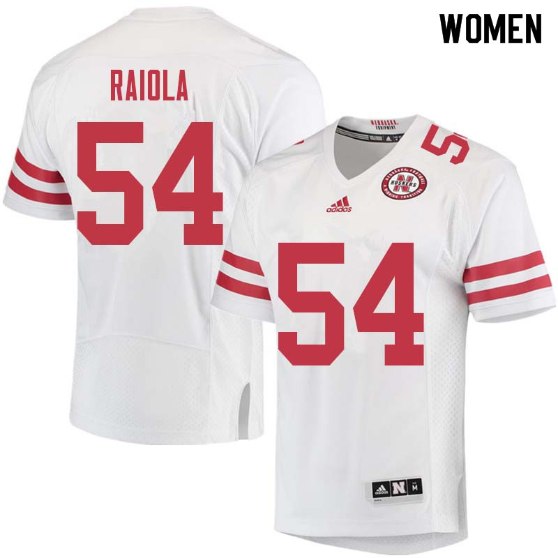 Women #54 Dominic Raiola Nebraska Cornhuskers College Football Jerseys Sale-White