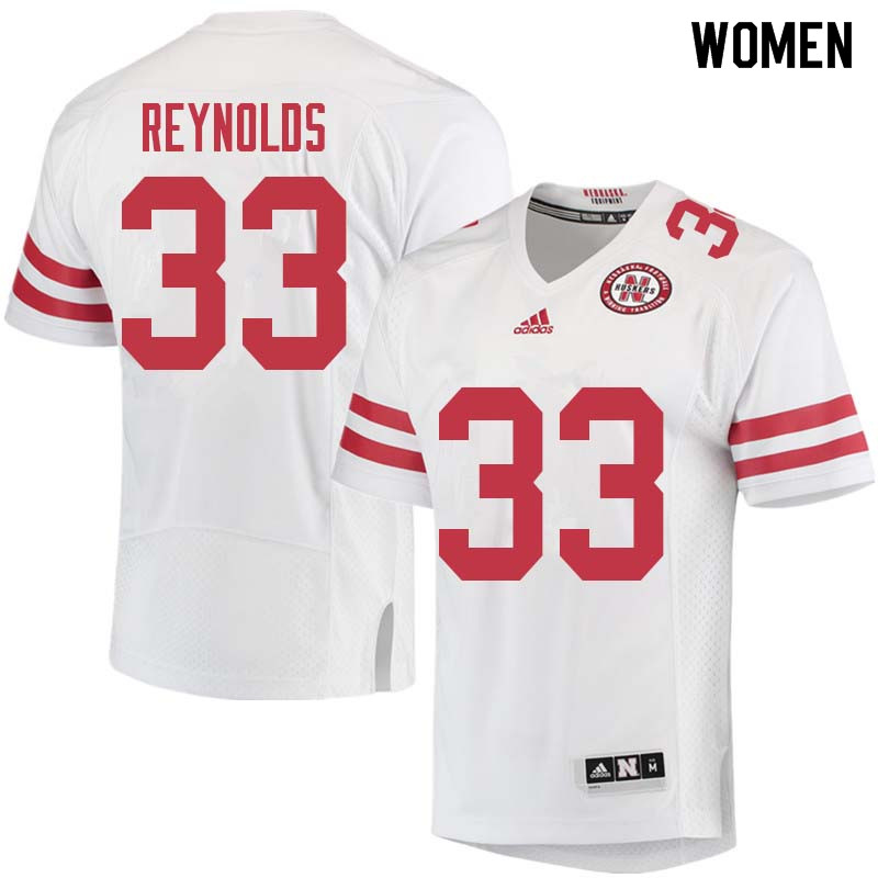 Women #33 Dylan Reynolds Nebraska Cornhuskers College Football Jerseys Sale-White