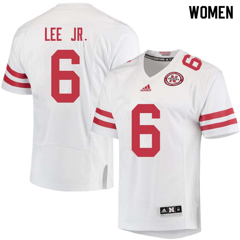 Women #6 Eric Lee Jr. Nebraska Cornhuskers College Football Jerseys Sale-White
