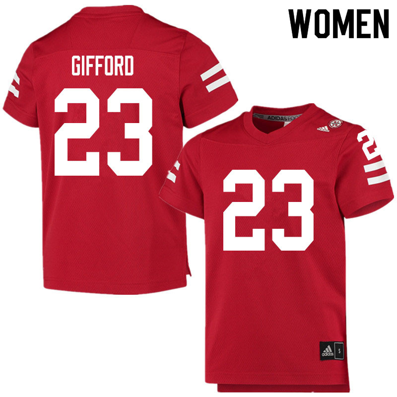 Women #23 Isaac Gifford Nebraska Cornhuskers College Football Jerseys Sale-Scarlet