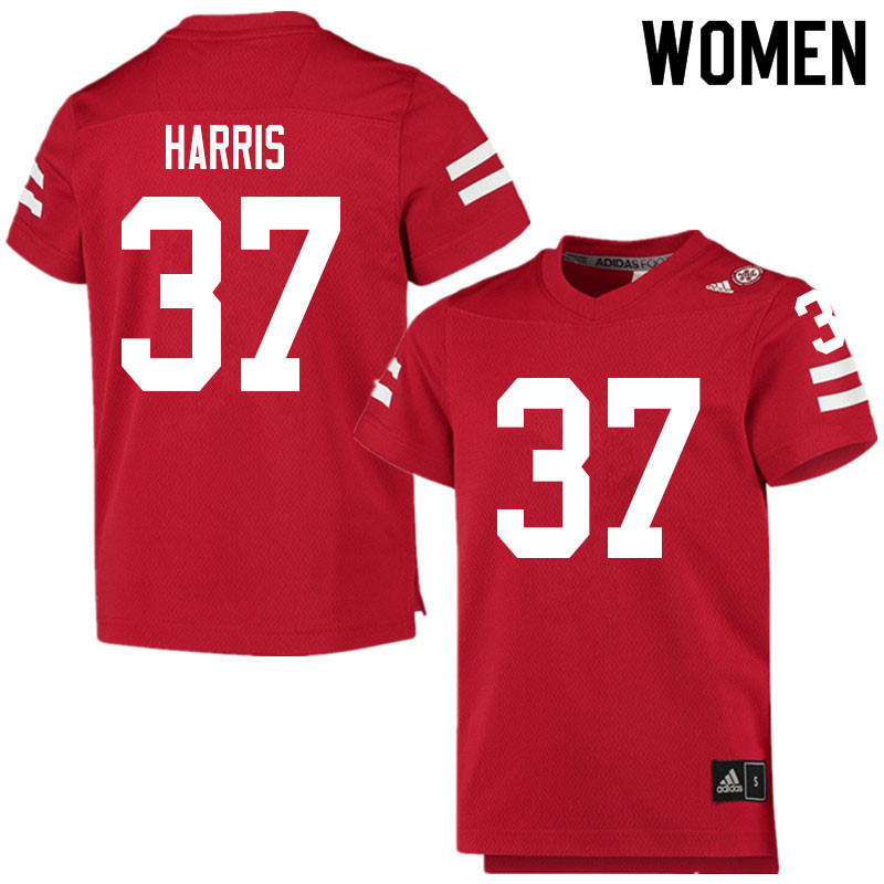 Women #37 Isaiah Harris Nebraska Cornhuskers College Football Jerseys Sale-Scarlet
