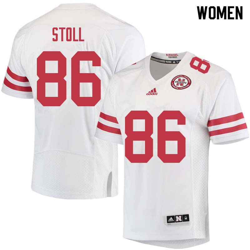 Women #86 Jack Stoll Nebraska Cornhuskers College Football Jerseys Sale-White