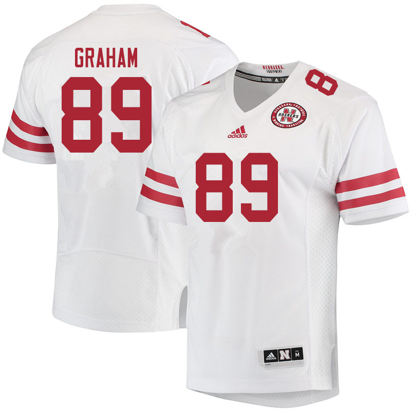 Women #89 Jamin Graham Nebraska Cornhuskers College Football Jerseys Sale-White