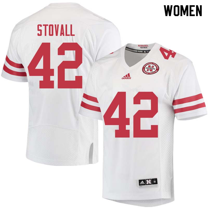 Women #42 Jeramiah Stovall Nebraska Cornhuskers College Football Jerseys Sale-White