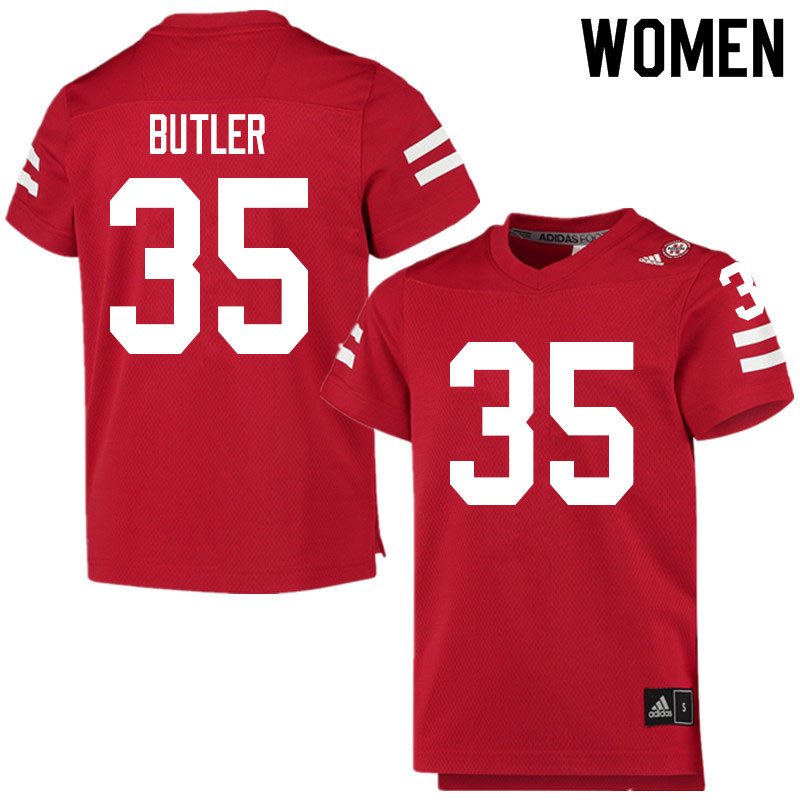 Women #35 Jimari Butler Nebraska Cornhuskers College Football Jerseys Sale-Scarlet