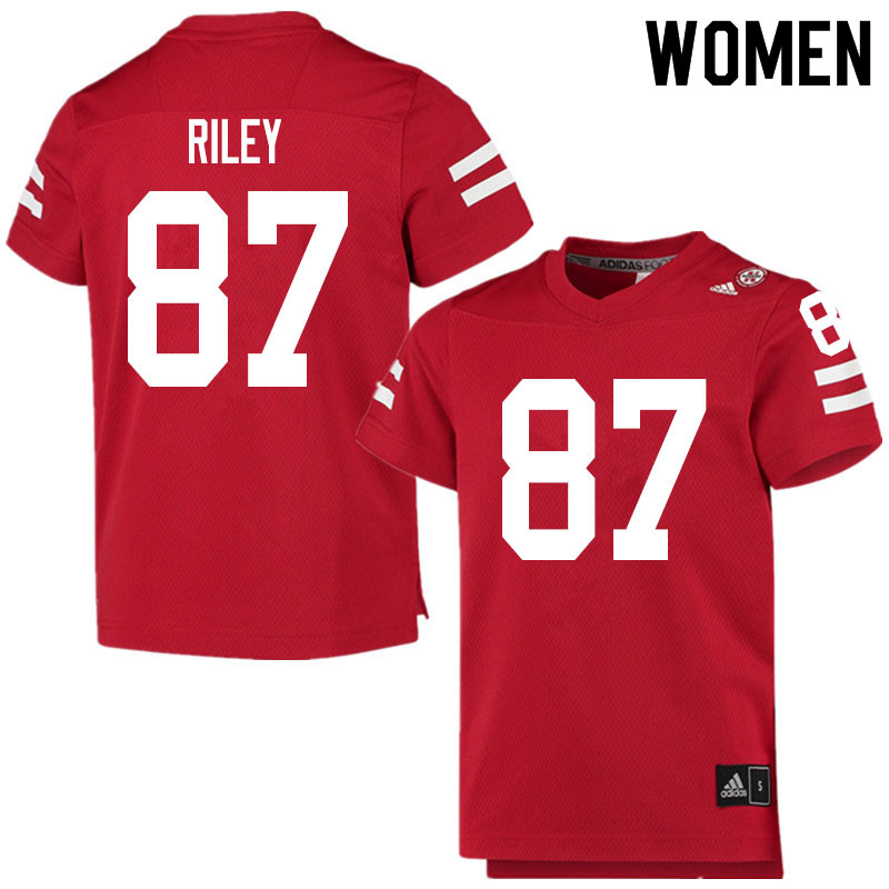 Women #87 Jordon Riley Nebraska Cornhuskers College Football Jerseys Sale-Scarlet
