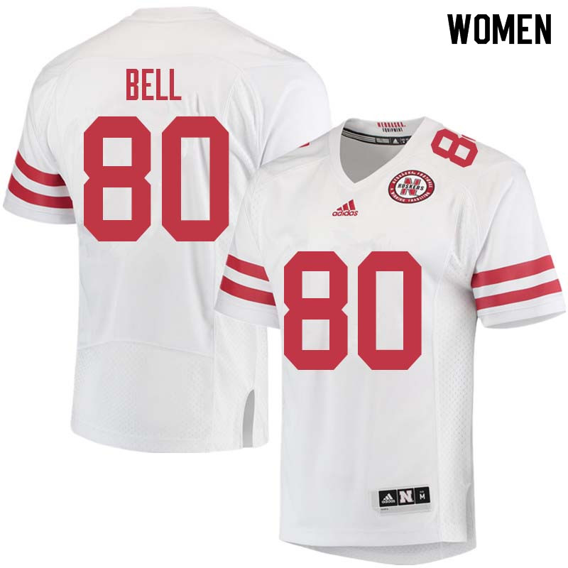 Women #80 Kenny Bell Nebraska Cornhuskers College Football Jerseys Sale-White