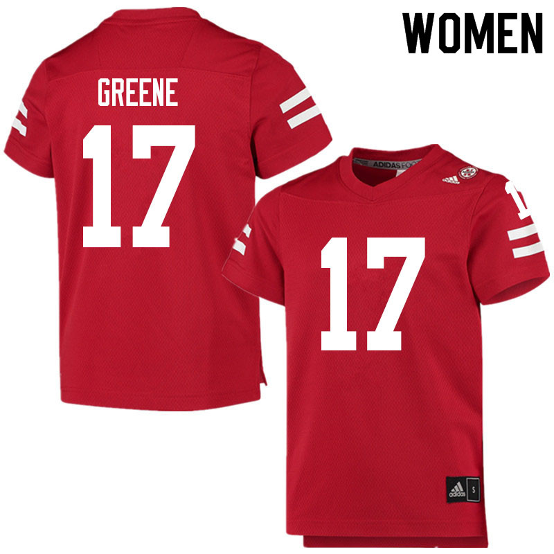Women #17 Keyshawn Greene Nebraska Cornhuskers College Football Jerseys Sale-Scarlet