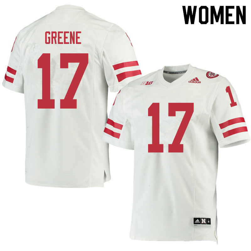 Women #17 Keyshawn Greene Nebraska Cornhuskers College Football Jerseys Sale-White