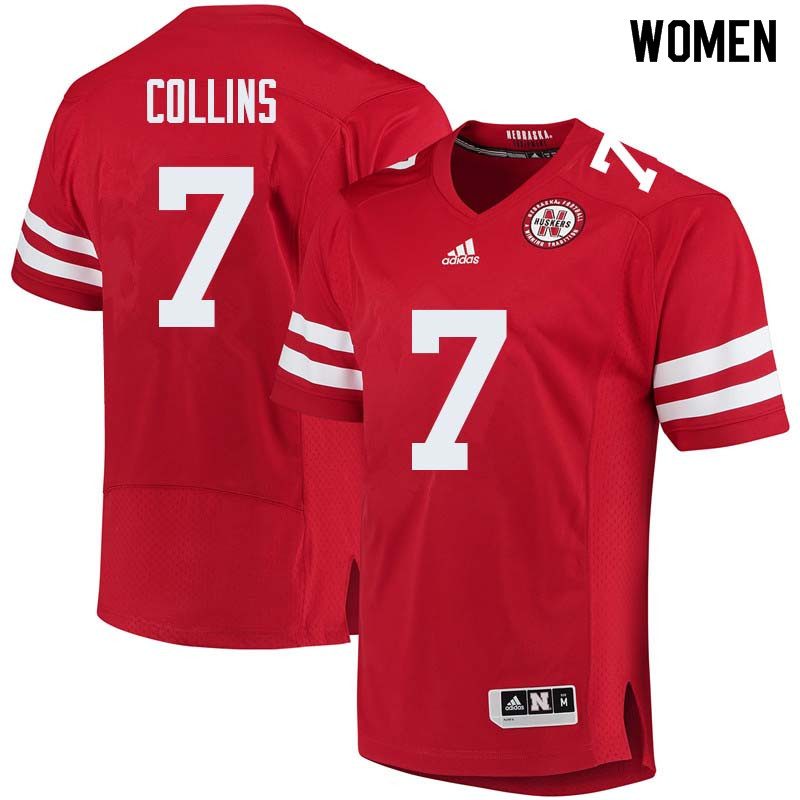 Women #7 Maliek Collins Nebraska Cornhuskers College Football Jerseys Sale-Red