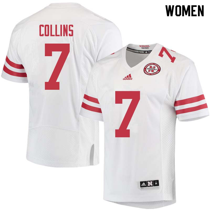 Women #7 Maliek Collins Nebraska Cornhuskers College Football Jerseys Sale-White