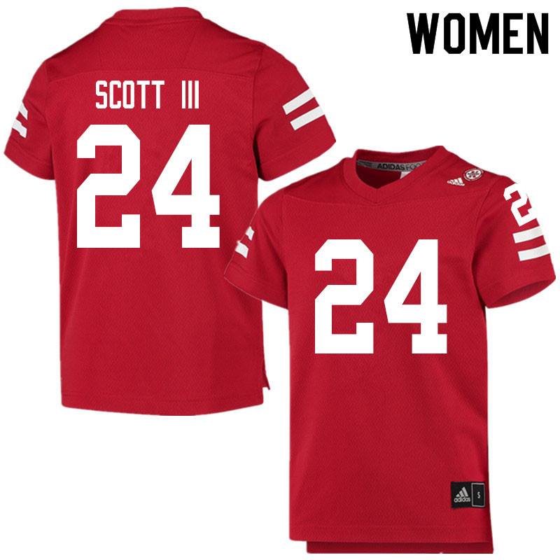 Women #24 Marvin Scott III Nebraska Cornhuskers College Football Jerseys Sale-Scarlet