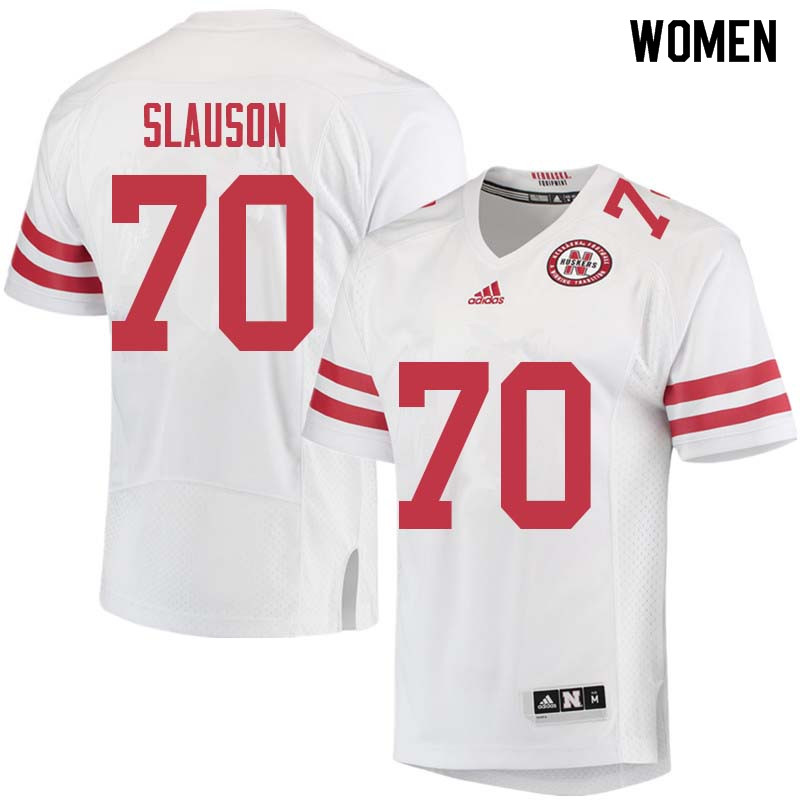 Women #70 Matt Slauson Nebraska Cornhuskers College Football Jerseys Sale-White