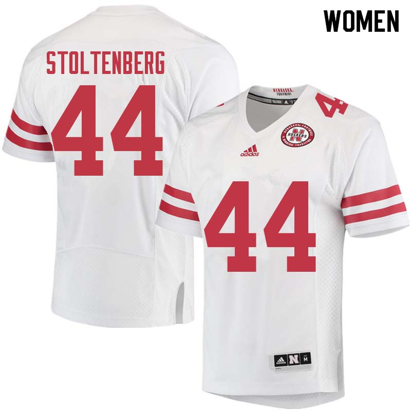 Women #44 Mick Stoltenberg Nebraska Cornhuskers College Football Jerseys Sale-White