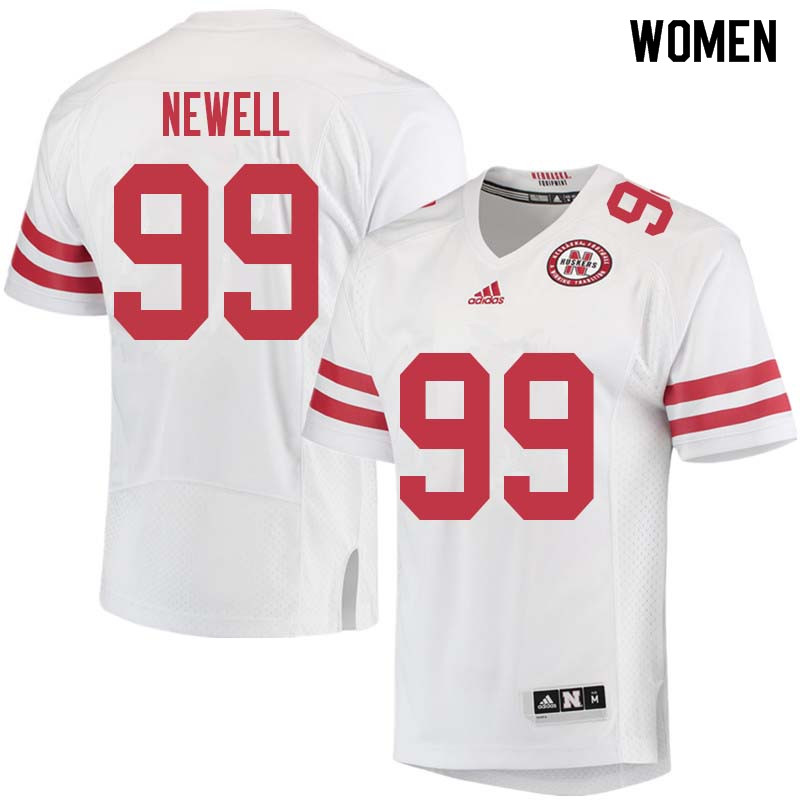 Women #99 Peyton Newell Nebraska Cornhuskers College Football Jerseys Sale-White