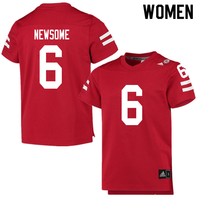 Women #6 Quinton Newsome Nebraska Cornhuskers College Football Jerseys Sale-Scarlet