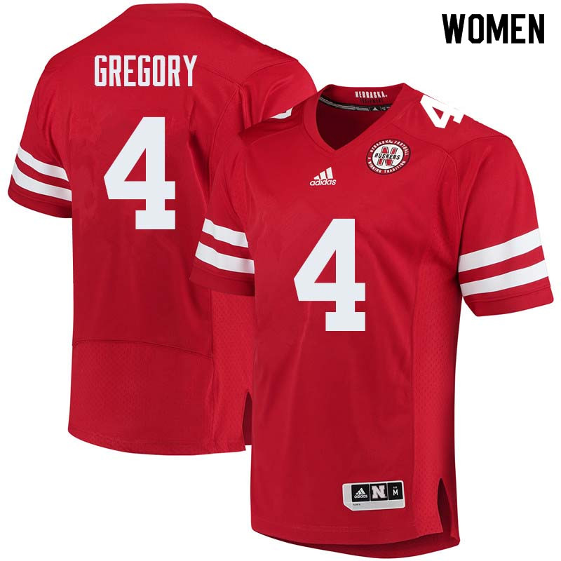 Women #4 Randy Gregory Nebraska Cornhuskers College Football Jerseys Sale-Red