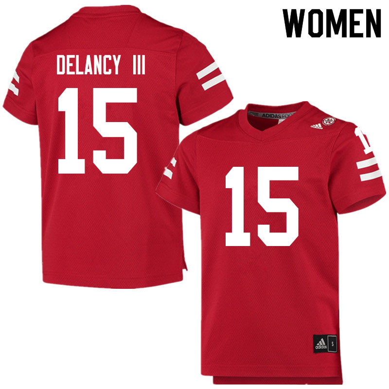 Women #15 Ronald Delancy III Nebraska Cornhuskers College Football Jerseys Sale-Scarlet