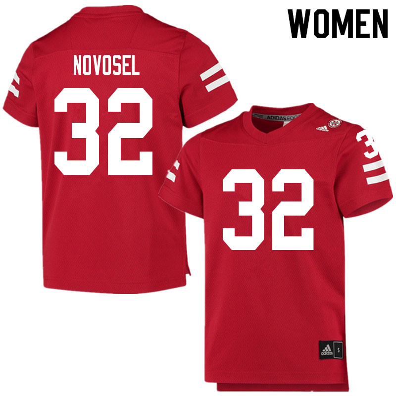 Women #32 Ryan Novosel Nebraska Cornhuskers College Football Jerseys Sale-Scarlet