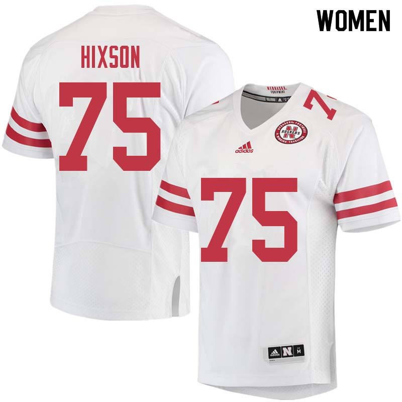 Women #75 Trent Hixson Nebraska Cornhuskers College Football Jerseys Sale-White