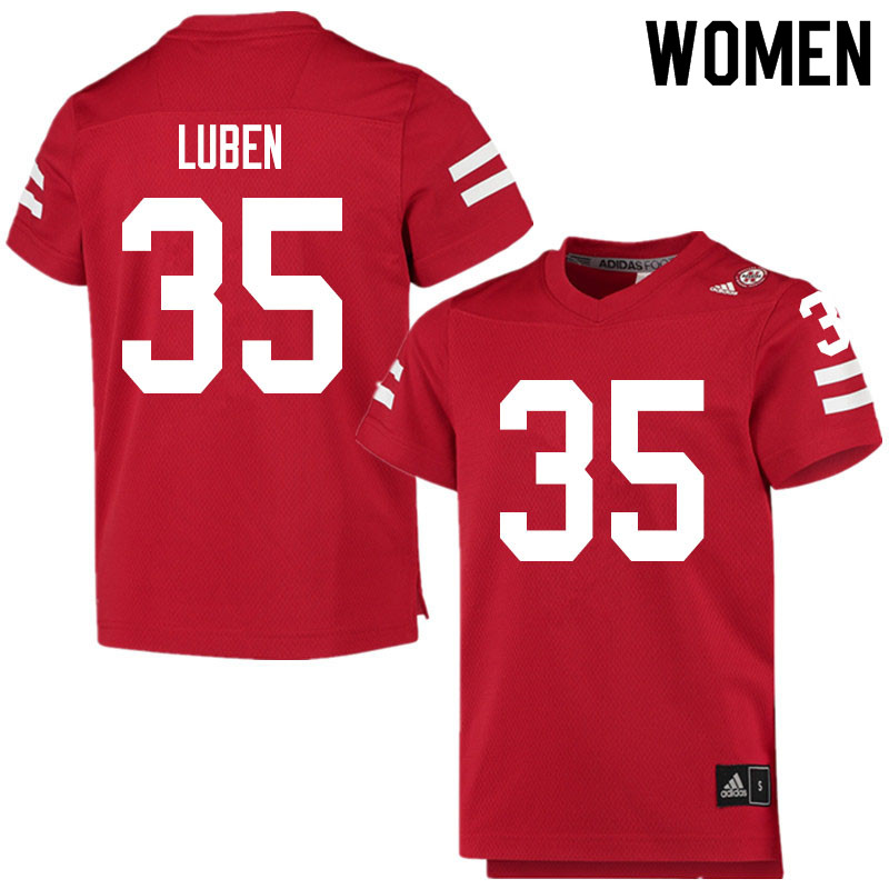 Women #35 Trevin Luben Nebraska Cornhuskers College Football Jerseys Sale-Scarlet