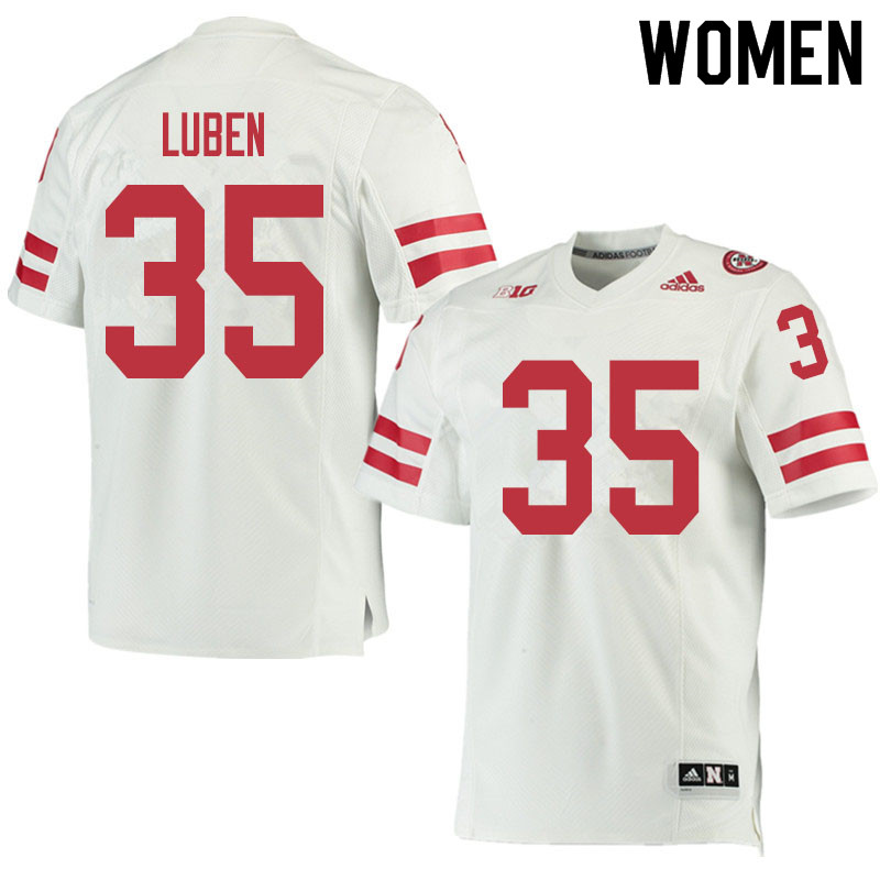 Women #35 Trevin Luben Nebraska Cornhuskers College Football Jerseys Sale-White