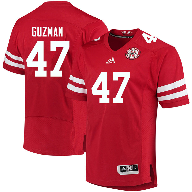 Women #47 Tyson Guzman Nebraska Cornhuskers College Football Jerseys Sale-Red