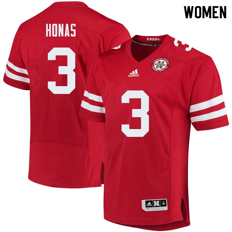 Women #3 Will Honas Nebraska Cornhuskers College Football Jerseys Sale-Red