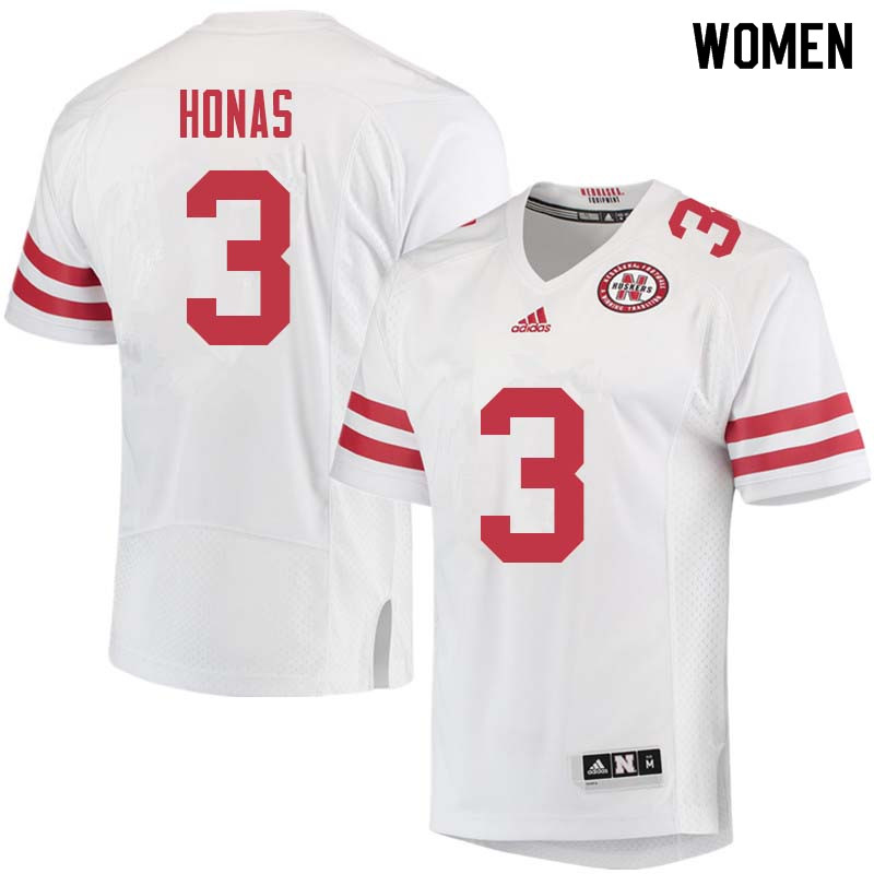 Women #3 Will Honas Nebraska Cornhuskers College Football Jerseys Sale-White