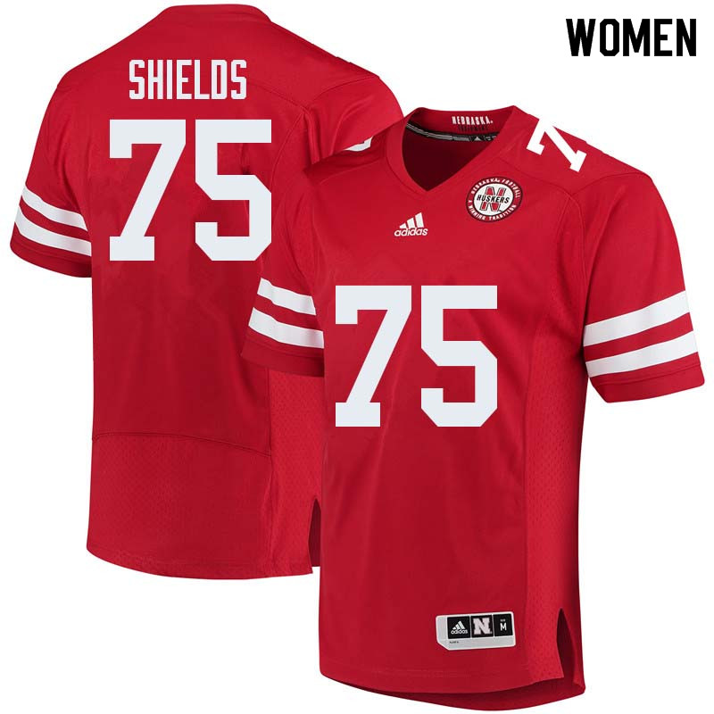 Women #75 Will Shields Nebraska Cornhuskers College Football Jerseys Sale-Red
