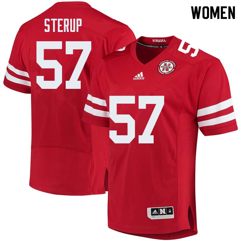 Women #57 Zach Sterup Nebraska Cornhuskers College Football Jerseys Sale-Red