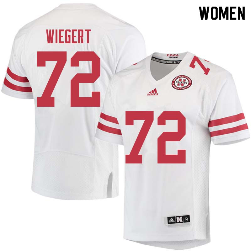 Women #72 Zach Wiegert Nebraska Cornhuskers College Football Jerseys Sale-White
