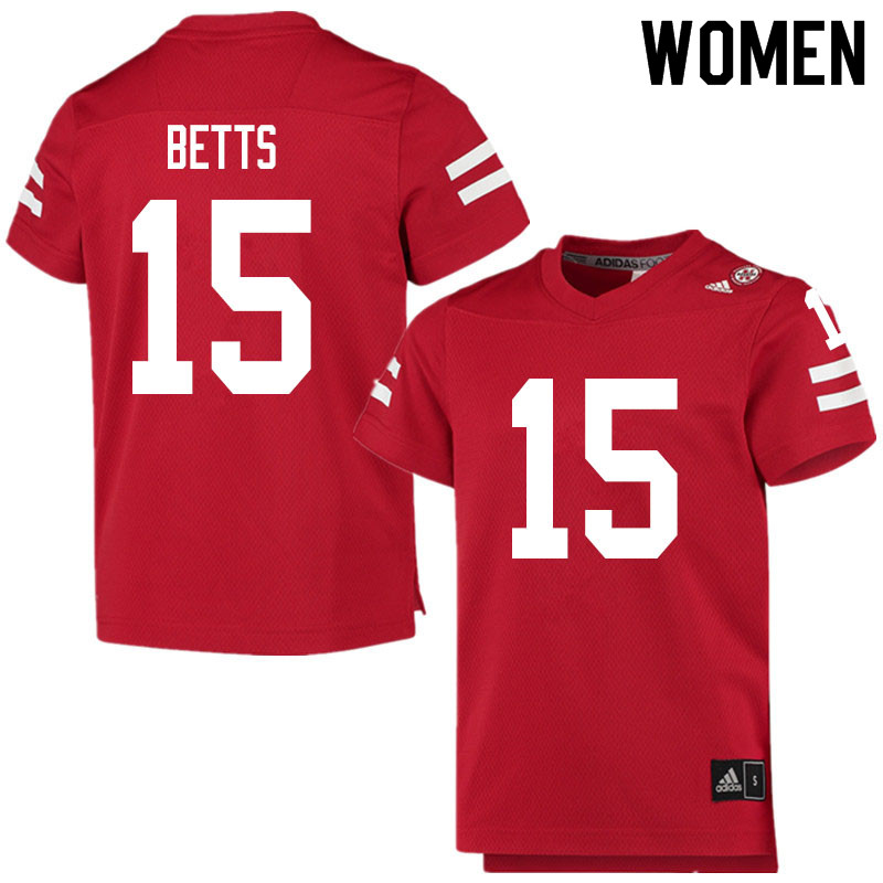 Women #15 Zavier Betts Nebraska Cornhuskers College Football Jerseys Sale-Scarlet