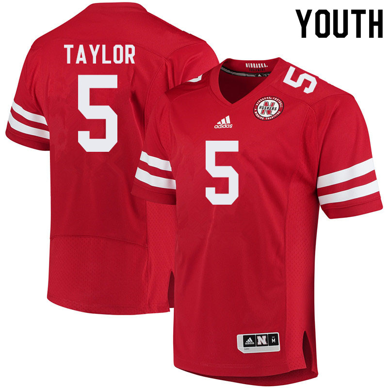Youth #5 Cam Taylor Nebraska Cornhuskers College Football Jerseys Sale-Red