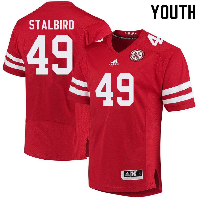 Youth #49 Isaiah Stalbird Nebraska Cornhuskers College Football Jerseys Sale-Red