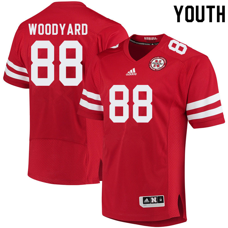 Youth #88 Jaron Woodyard Nebraska Cornhuskers College Football Jerseys Sale-Red