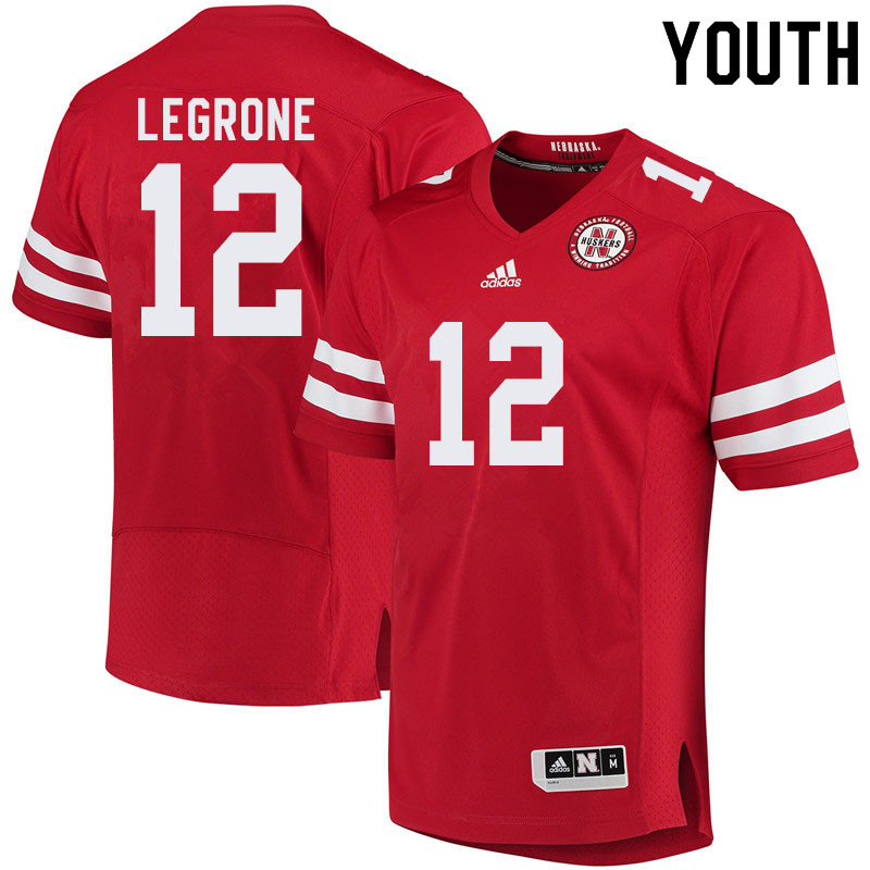 Youth #12 Katerian LeGrone Nebraska Cornhuskers College Football Jerseys Sale-Red