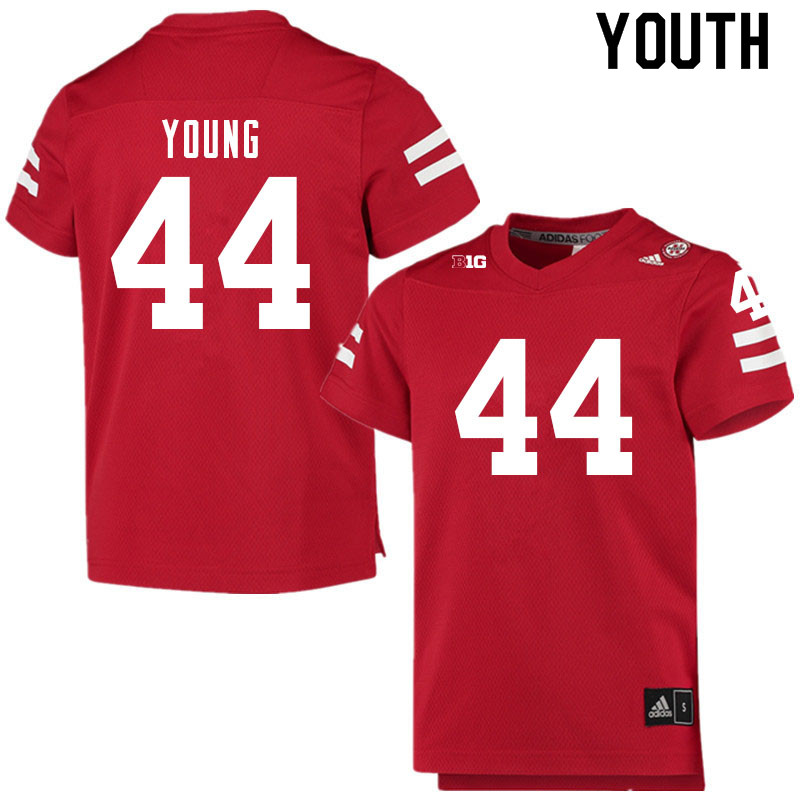 Youth #44 Aiden Young Nebraska Cornhuskers College Football Jerseys Sale-Scarlet