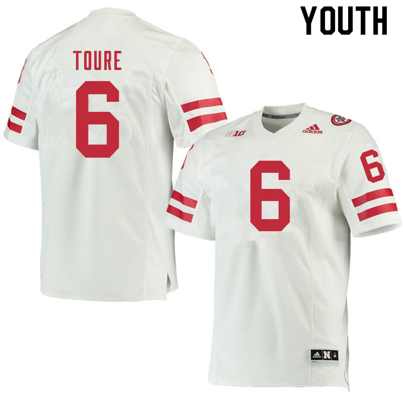 Youth #6 Samori Toure Nebraska Cornhuskers College Football Jerseys Sale-White
