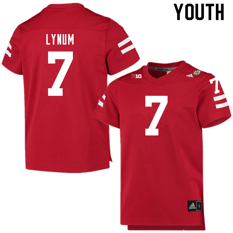 Youth #7 Tamon Lynum Nebraska Cornhuskers College Football Jerseys Sale-Scarlet