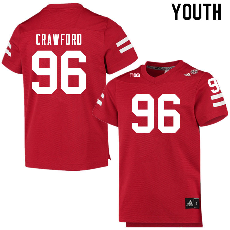 Youth #96 Tyler Crawford Nebraska Cornhuskers College Football Jerseys Sale-Scarlet
